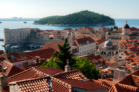 Dubrovnik from the fort walls, Croatia